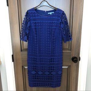 Antonio Melani blue Twill dress. Size 8